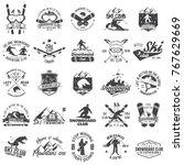 Ski And Snowboard Club Emblem....