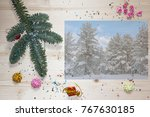 template for christmas greeting ... | Shutterstock . vector #767630185
