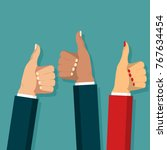 thumb up symbol set flat style  ... | Shutterstock .eps vector #767634454