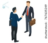 successful businessmen... | Shutterstock .eps vector #767635249