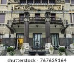 milan  italy   dec 2  2017  ... | Shutterstock . vector #767639164