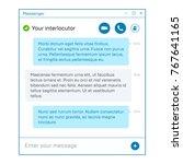 messenger app window | Shutterstock .eps vector #767641165