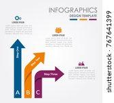 infographic template. vector... | Shutterstock .eps vector #767641399