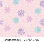 christmas vector illustration.... | Shutterstock .eps vector #767642737
