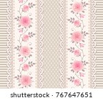 seamless pattern with branches... | Shutterstock .eps vector #767647651