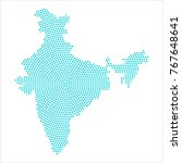 abstract graphic india map of... | Shutterstock .eps vector #767648641