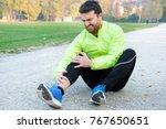 injury running concept . man... | Shutterstock . vector #767650651