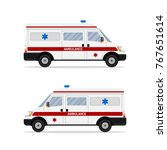 picture of abulance emergency... | Shutterstock .eps vector #767651614