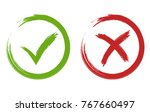 tick and cross signs. hand... | Shutterstock .eps vector #767660497