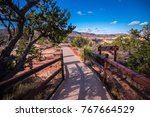 natural bridges national... | Shutterstock . vector #767664529