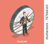 deadline flat isometric vector...   Shutterstock .eps vector #767666161