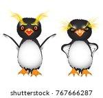 cartoon royal penguins with big ...