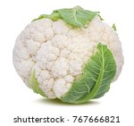 Fresh Cauliflower Isolated On...