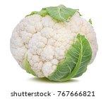 fresh cauliflower isolated on...   Shutterstock . vector #767666821