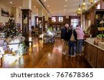 seniors christmas shopping at... | Shutterstock . vector #767678365