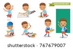 kindergarten children. of... | Shutterstock .eps vector #767679007