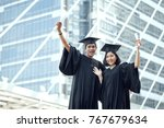 student standing with arms... | Shutterstock . vector #767679634