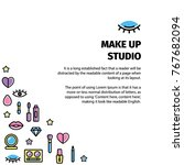 make up flyer for beauty studio.... | Shutterstock .eps vector #767682094