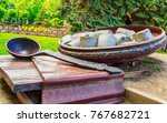 monument poltava dumplings... | Shutterstock . vector #767682721