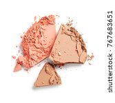 broken face powder isolated on... | Shutterstock . vector #767683651