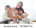 family portrait of mother and... | Shutterstock . vector #767686714