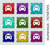 taxi icon vector | Shutterstock .eps vector #767687641