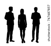 vector silhouettes of man and... | Shutterstock .eps vector #767687857