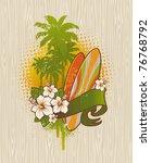 vector illustration   tropical... | Shutterstock .eps vector #76768792