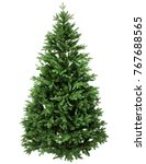 green pine  christmas tree... | Shutterstock . vector #767688565