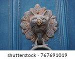 door knocker  columbia road ... | Shutterstock . vector #767691019