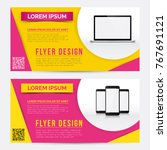 flyer  brochure   booklet... | Shutterstock .eps vector #767691121