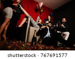 super drunk at a party | Shutterstock . vector #767691577