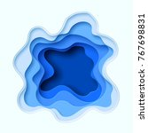 3d abstract blue wave... | Shutterstock .eps vector #767698831