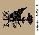 isolated vector illustration.... | Shutterstock .eps vector #767706991