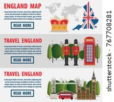 journey to england set of... | Shutterstock .eps vector #767708281