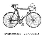 vector hand drawn illustration... | Shutterstock .eps vector #767708515