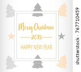 simple christmas celebrating... | Shutterstock .eps vector #767710459