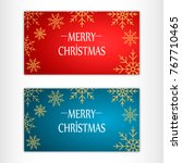 merry christmas card | Shutterstock .eps vector #767710465