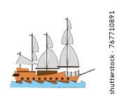 old ship boat | Shutterstock .eps vector #767710891