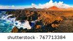 amazing los hervideros lava's... | Shutterstock . vector #767713384