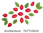 Rosehip Berries Isolated On...