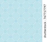 light blue geometric ornament.... | Shutterstock .eps vector #767717797
