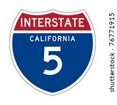 american california interstate... | Shutterstock . vector #76771915