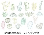 set of hand drawn different... | Shutterstock .eps vector #767719945