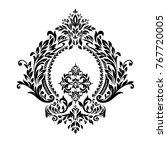 vintage corner baroque scroll... | Shutterstock .eps vector #767720005
