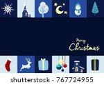 christmas background banner... | Shutterstock .eps vector #767724955