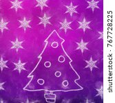 new year or christmas concept... | Shutterstock . vector #767728225
