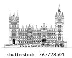 beautiful building of st.... | Shutterstock .eps vector #767728501