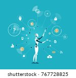 robot  artificial intellect... | Shutterstock .eps vector #767728825