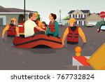 a vector illustration of rescue ... | Shutterstock .eps vector #767732824
